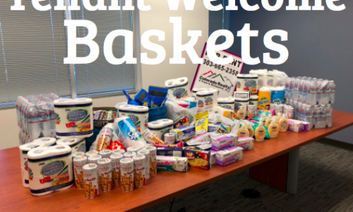 The picture above is 25 welcome baskets in the making.