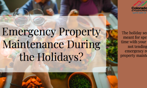 Emergency Property Maintenance During the Holidays?