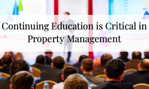 Continuing Education is Critical in Property Management
