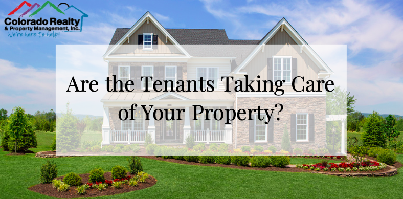 Are the tenants taking care of your property?
