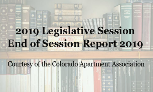 2019 Priority Bills Affecting the Residential Rental Property