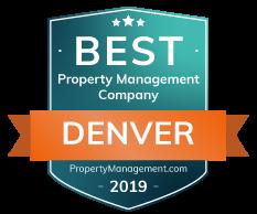 Best Property Management company in Denver CO Award