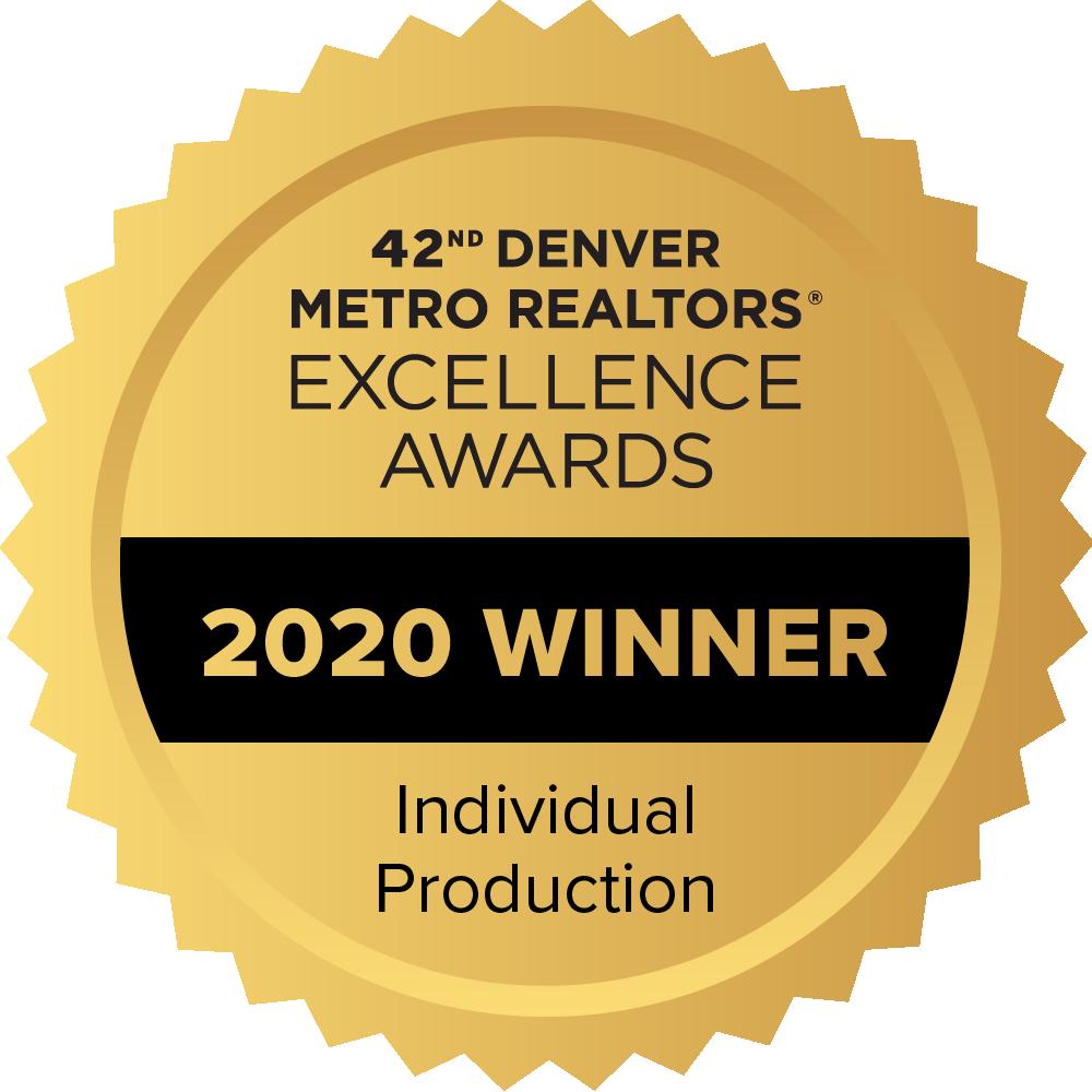 2020 Winner Denver Metro Realtors Excellence Award